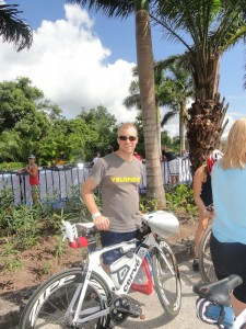 Brett with his bike